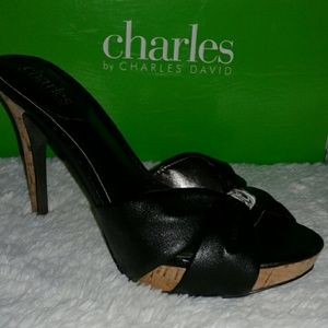 Charles by Charles David Black heel sandle